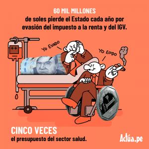 Evasión del impuesto a la renta y IGV.